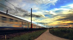 GIF - Sunset train by turst67