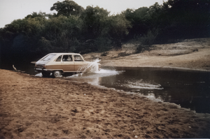 Crossing the river with Renault 16 by Valentin-T