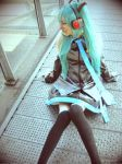 Miku Hatsune take a break by cyberlight