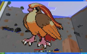 Pidgeot On Minecraft by Miccopicco
