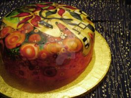 Christmas Yule Cake 07 - Klimt by ALICE-on-ACID