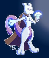 Hunter the Mewtwo by LucarioOcarina