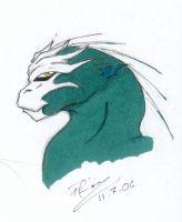 Teal - Head, Sideview by ffufi