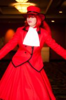 Madame Red enters by BertLePhoto