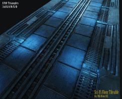 Sci-Fi Floor_Tile by Mellon3D