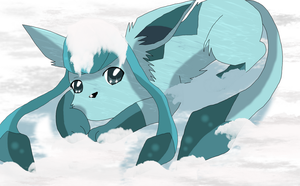 CM: Snow Glaceon by BekkiDarliin