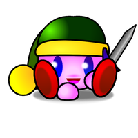 Sword kirby chibi by cutenessawsomness