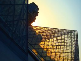 Louvre in the sunset IV by Mynervah