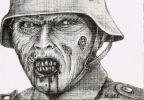 Dead Snow - Sketch card by mikegee777