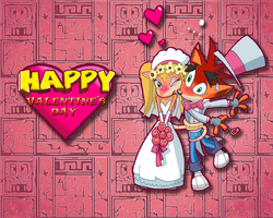 Crash Valentine's Wallpaper by E-122-Psi