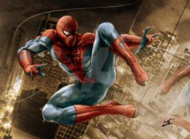 amazing spiderman by tuljin