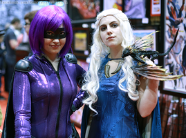 Hit Girl and Daenerys Targaryen by MonsterBrand