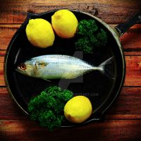 Fish in a pan by ruliyanto