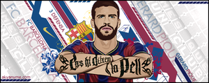 Gerard Pique footy sign by akyanyme