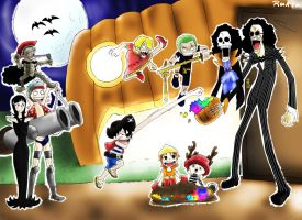 trick or treating - One Piece by Ruk1z