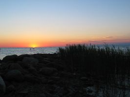Sunset on Lake Huron by solnascens