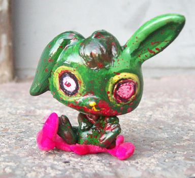 Little Pet Zombie Bunny by Tat2ood-Monster