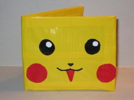 Happy Pikachu Duct Tape Wallet by jodawg