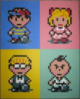 Classic, Strawberry, Banana, and Mint by PixelArtPaintings