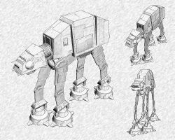 Star Wars - AT-AT by lemonpeeler