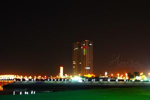 Ras al Khaimah city night view by amirajuli