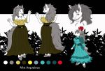 Mist Arqueious Reference Sheet by Crysalia777
