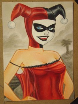 Harley Quinn Mad Love Sketch Card by MrBowen3