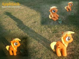 Handsewn Applejack Plushie by HipsterOwlet