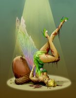 Zombie Tinkerbell Colors by steevinlove