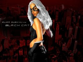 Eliza Dushku - Black Cat by callmemilo