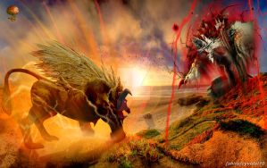 Monster Hunter - Ultimate Rajang vs Dark Jinouga by cyevidal10