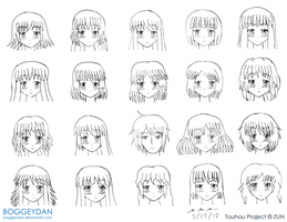 Touhou Faces - Who is Who? by BoggeyDan