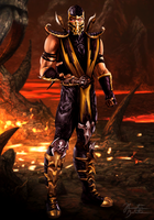 Mortal Kombat (2011): Scorpion by JhonatasBatalha