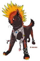 .: Punk Wolf - Points Auction. by Meoxie