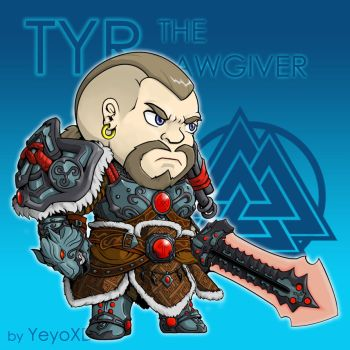 Tyr The Lawgiver (Chibi Version) by YeyoXD