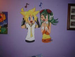 Len and Gumi Mural by FENNEKlNS