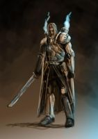 Warhammer inspired knight by Schnedler