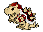 Dry Paper Bowser by The-PaperNES-Guy