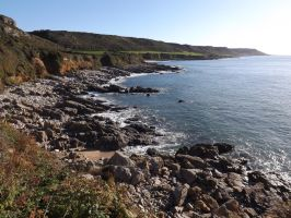 west, towards Oxwich Point by nonyeB