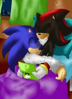Sonadow - sweet dreams blue hedgehog by InGriid-Chan
