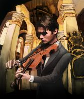 Baroque Violinist by Asocan