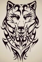 Tribal Wolf by tattoo-love-forever