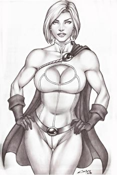 POWERGIRL, SALES ON E-BAY AUCTION NOW !!! by carlosbragaART80