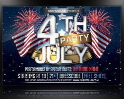 4th Of July - Flyer Template by mrwooo