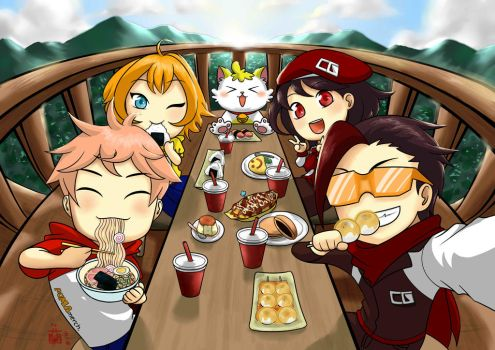 Eat, Tour, and Friendship by ran911