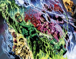 Blackest Night No.5 pgs. 2-3 by sinccolor