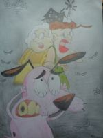 Courage the Cowardly Dog by whozZy94