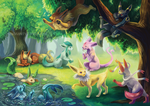 Eeveelutions by Silverbirch