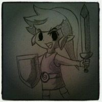 My  Link Drawing by jeffthegamer