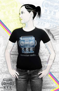monsteradio girl black by bigtimeplankton3